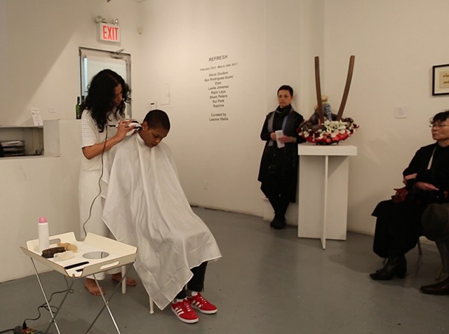 "The performance ""121212"" at RUSH Gallery, NYC"