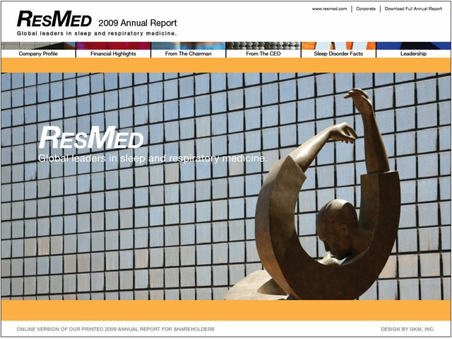 ResMed 2009 Interactive Annual Report
