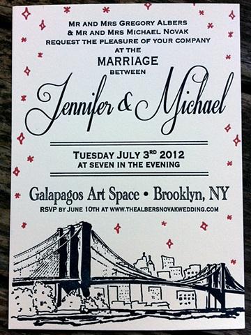 Midnight in Brooklyn Invite