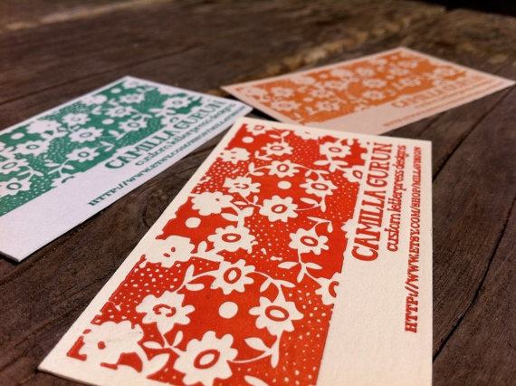 Floral Custom Business Cards