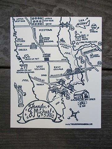 New York/Brooklyn Wedding Map