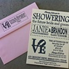 LOVE invites and envelopes