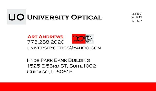 University Optical Business Card