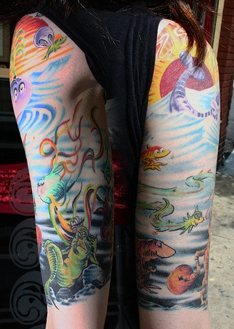 Dr. Seuss Arm tattoo