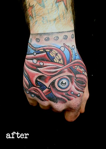 Squid Cover Up after