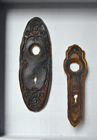 letters from a domicile (door knobs and plates)