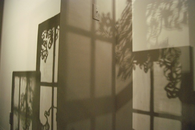 Untitled (Window Assemblage), Shadow Detail