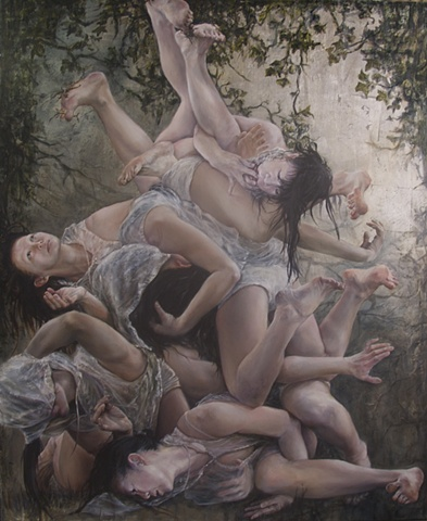 This painting is inspired by butoh performance