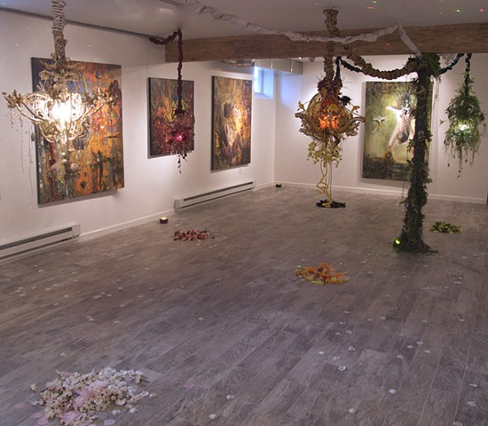 Alchemical Perception: Voices,Vimanas,Vibrations installation view 1