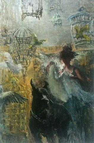 "Sofia Bachvarova ""Wherever She Went Carrying Those White Feathers""2011"