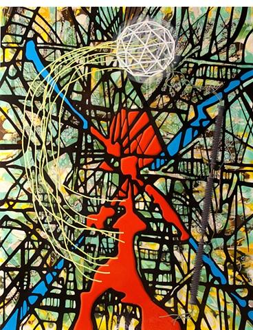 Liar (Portrait of Buckminster Fuller as St. Sebastian)