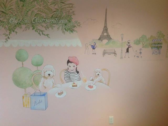 playroom mural for 3 year old girl