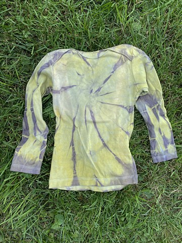 Goldenrod, Logwood, and Chlorophyll Dye Child's Cotton Long Sleeve Tee Mabo Size 4/5 $60