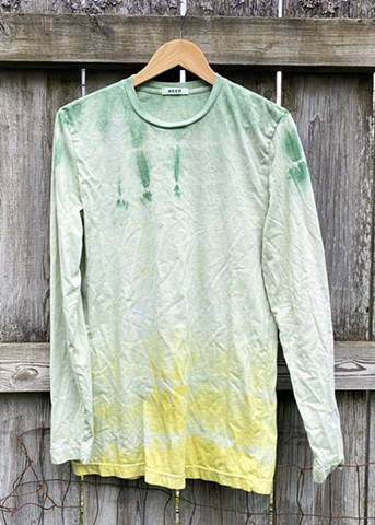 Fresh Indigo, Goldenrod, and Chlorophyll Dye Long Sleeve T-Shirt Need Supply Size S $65