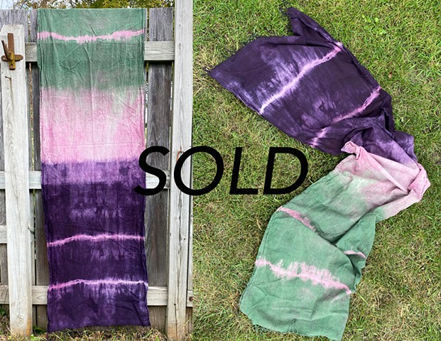Cochineal, Logwood, and Chlorophyll DyeCotton Scarf$80