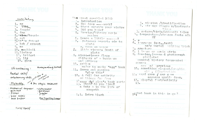 Great Speckled Bird::Making it happen process notes