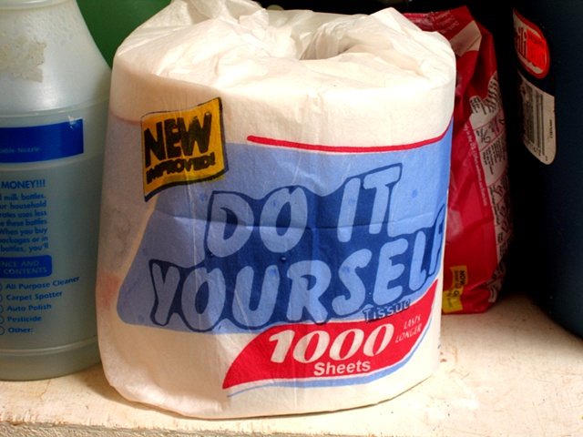Do it yourself toilet paper; complete with printed instructions of installation on roll Edition 1/125