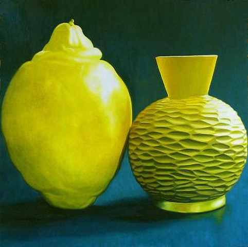 large lemon small vase