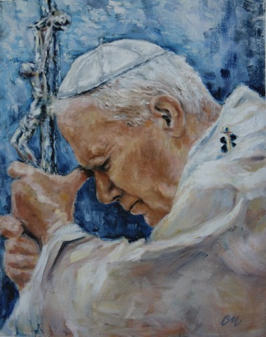 John Paul the Great, Pope, Catholic Church, JPII, John Paul II, JPII artwork, JPII painting