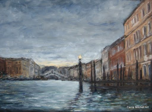 venice oil painting artist Carrie Mitchell