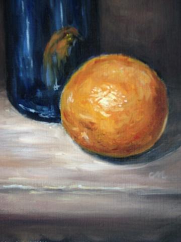 """""""Blue Bottle and Orange"""""""