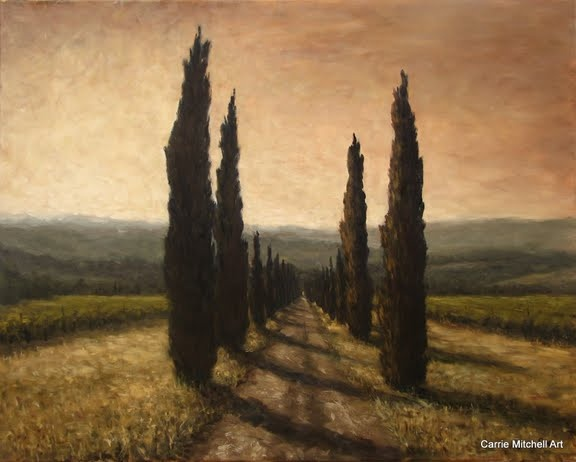 Tuscany oil painting by Carrie Mitchell