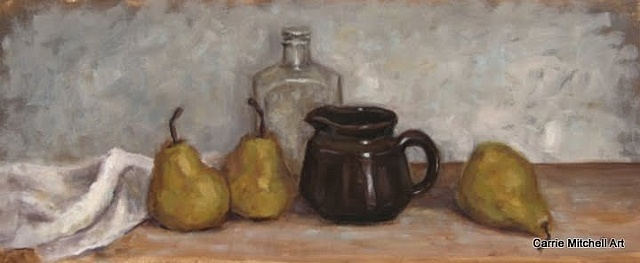 """Old Bottle and Pears"""