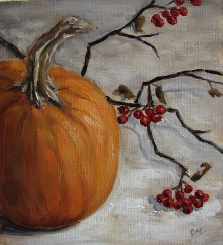 """Pumpkin and Berries"""