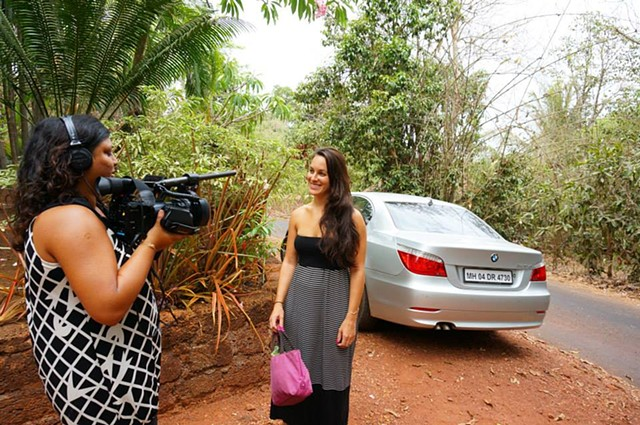 Shooting in Goa, India