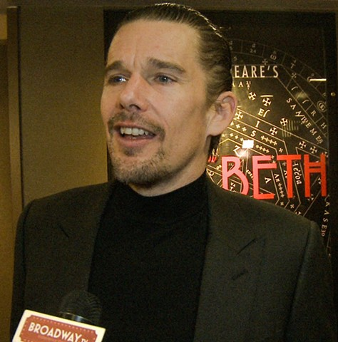 Actor Ethan Hawke In Macbeth - Red Carpet Interview for Broadway TV