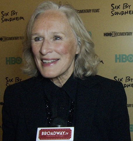 Academy Award Winner Glenn Close Interview about HBO's Six by Sondheim for Broadway TV