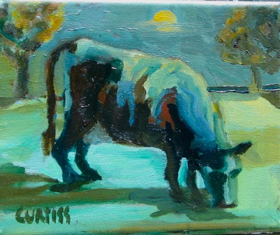 Cows in Moon light at BeechTree  Organic Beef Farm Hopewell NJ Verde Gallery, Garcia Lorca