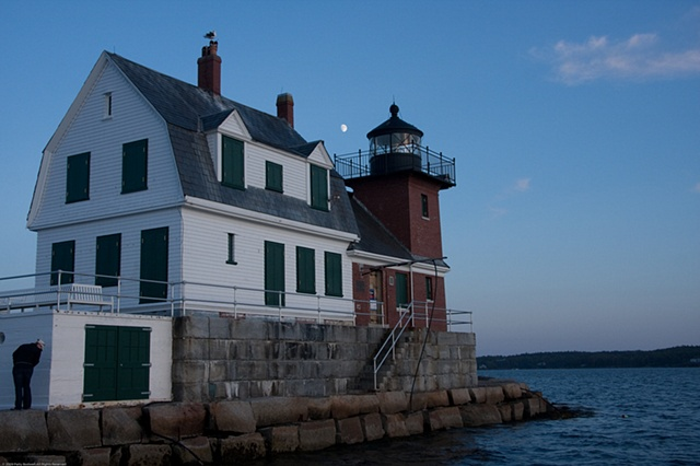 Dusk at the Rockland Breakwater Lighthouse