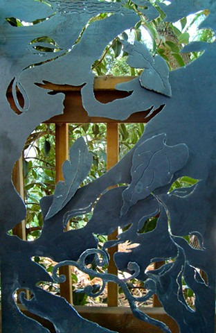 Steel Garden Screen