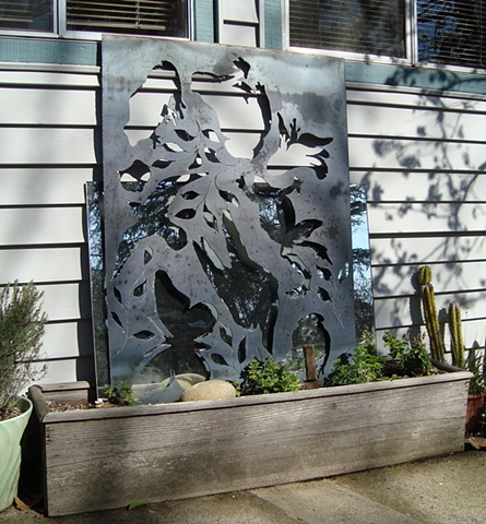 Hand cut steel screen