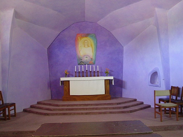 Altar area, Christian Community Church, Rancho Cordova, California