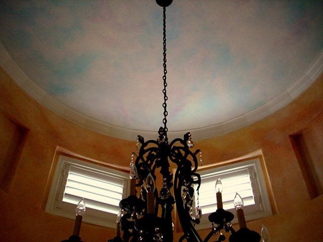 Dining room ceiling, Rocklin, California