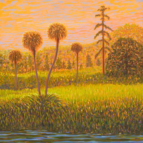 Symphonie Fantastique painted by Florida Artist Gary Borse at Plum Contemporary Art Gallery St Augustine FL