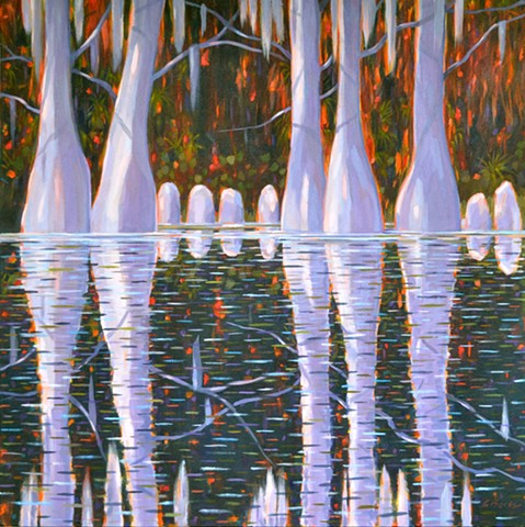 Cypress Cove painted by Florida Artist Gary Borse