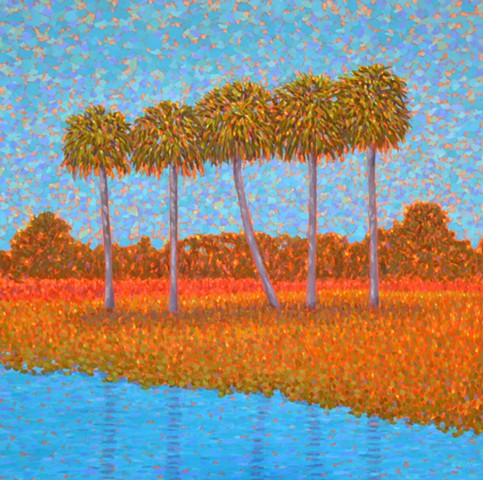 Partly Cloudy painted by Florida Artist Gary Borse is available at Galleria Misto Bellair Bluffs FL