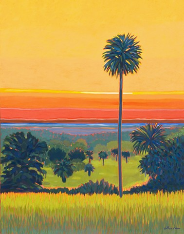 Orange Lake Overlook Sunrise Top of the Morning by Florida Artist Gary Borse