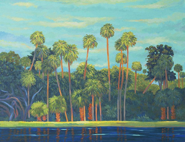 Sunset Strip painted by Florida Artist Gary Borse available at Lombard Contemporary Art, Orlando, Florida