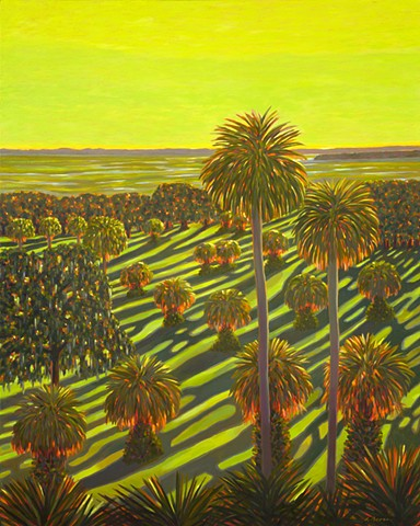 Celebration is a painting of sunrise on Orange Lake by Florida Artist Gary Borse