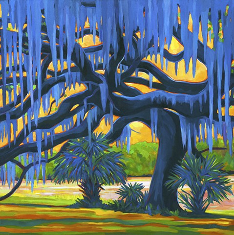 Live Oak Amazing Grace painted by Florida Artist  Gary Borse