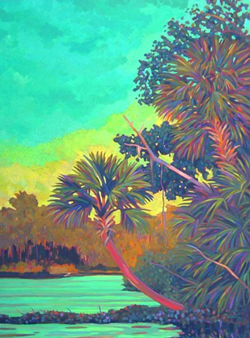 The Golden Hour painted by Florida Artist Gary Borse available at 530 Burns Gallery, Sarasota, FL