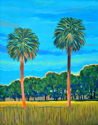 Duet painted by Florida Artist Gary Borse available at Lombard Contemporary Art in Orlando Florida