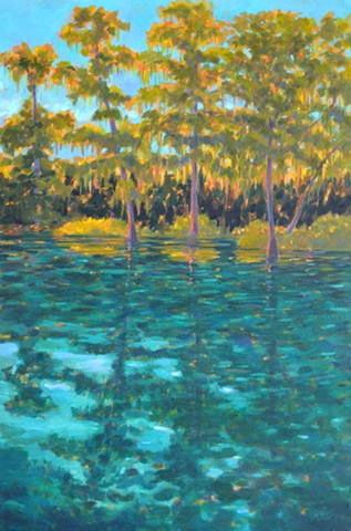 Rainbow River Painted by Florida Artist Gary Borse is available at 530 Burns Gallery in Sarasota, FL