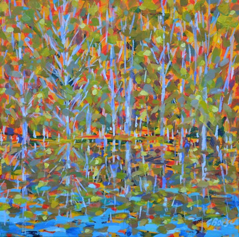 Smal Pond by Florida Artist Gary Borse is available at Lombard Contemporary Art Orlando Florida
