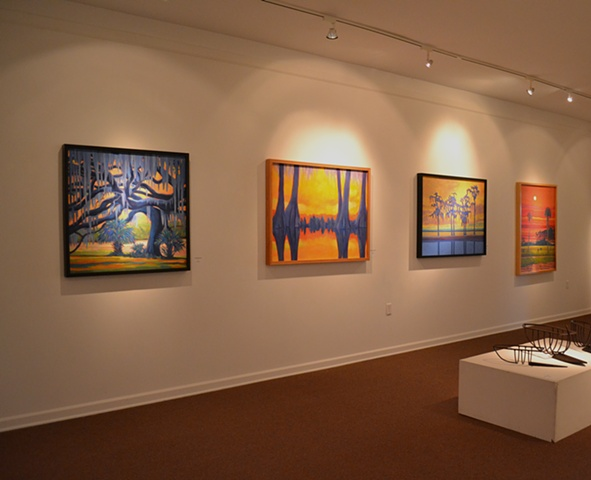 Paintings by Gary Borse at the Ormond Memorial Art Museum in Ormond Beach Florida