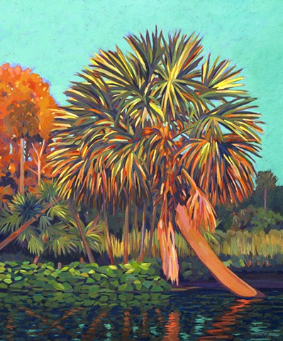 Wekiva River Acrylic Painting by Florida Artist Gary Borse available at 530 Burns Gallery, Sarasota Florida